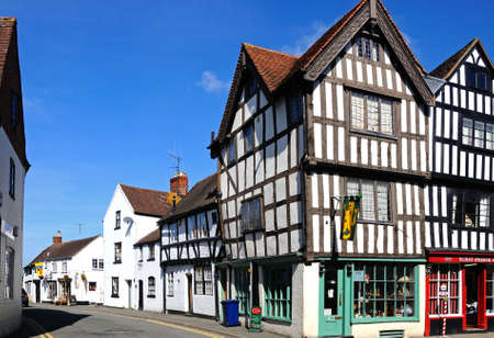 tudor: Tudor buildings on the corner of Church Street and St Marys Lane, Tewkesbury, Gloucestershire, England, UK, Western Europe.