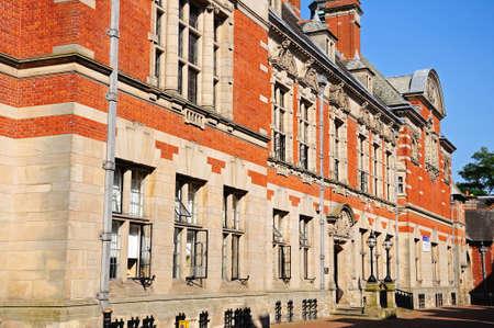 stafford: County buildings in Martin Street, Stafford, Staffordshire, England, UK, Western Europe. Editorial