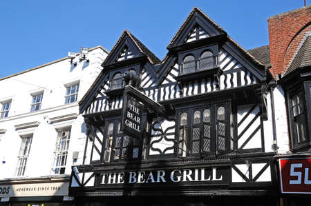 stafford: The Bear Grill restaurant along Greengate Street, Stafford, Staffordshire, England, UK, Western Europe.