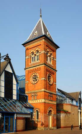 stafford: Stafford Costruzione dell'interno torre Mercato, Stafford, Staffordshire, Inghilterra, Regno Unito, Europa occidentale.