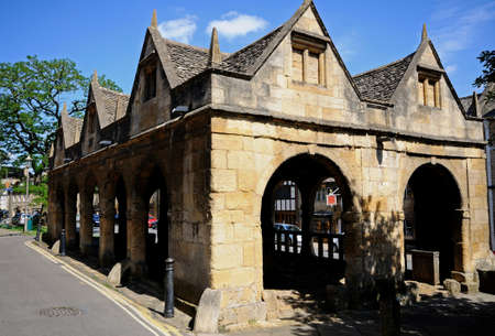 gloucestershire: The Old Market Hall, Chipping Campden, The Cotswolds, Gloucestershire, England, UK, Western Europe. Editorial