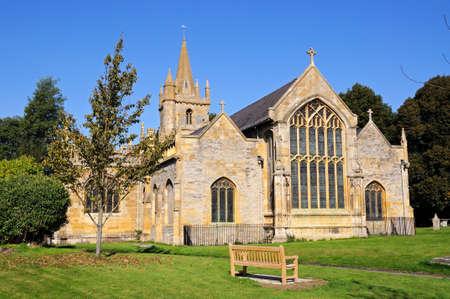worcestershire: St Lawrence Church and churchyard, Evesham, Worcestershire, England, UK, Western Europe. Stock Photo