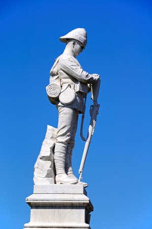 chads: South African war memorial next to St Chads Church, Shrewsbury, Shropshire, England, UK, Western Europe.