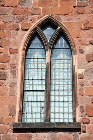 Castle arched window detail, Shrewsbury, Shropshire, England, UK, Western Europe.