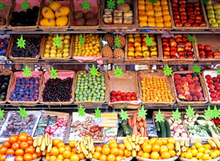fruit and veg: Fruit and veg for sale in the city centre Paris France Western Europe.