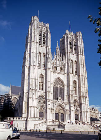 western europe: Cathedral of St Michael and St Gudula Belgium Western Europe. Editorial