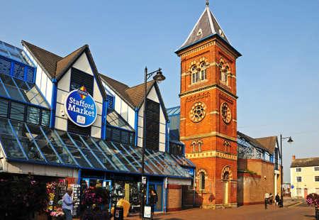 stafford: View of Stafford Market Stafford Staffordshire England UK Western Europe.