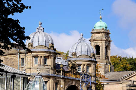 edwardian: View of the Opera House with the Church to the rear, Buxton, Derbyshire, England, UK, Western Europe.