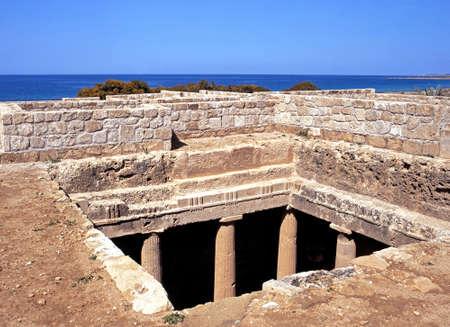tumbas: Tumbas de los Reyes (siglo 3 aC), Paphos, Chipre.
