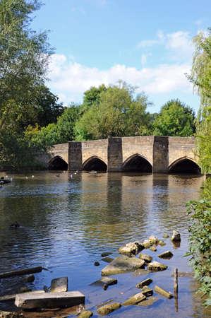 derbyshire: Medieval bridge over the River Wye, Bakewell, Derbyshire, England, UK, Western Europe.