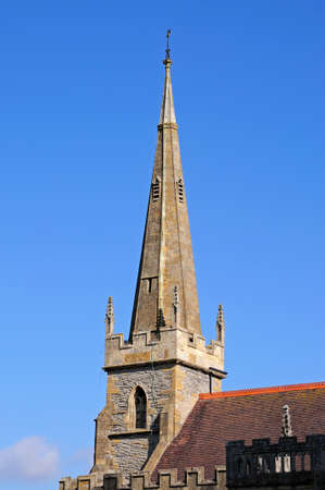 spire: All Saints church spire Evesham Worcestershire England UK Western Europe.
