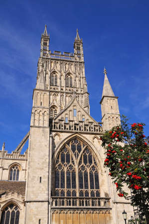 indivisible: Cathedral church of St Peter and the Holy and Indivisible Trinity Gloucester Gloucestershire England UK Western Europe. Stock Photo