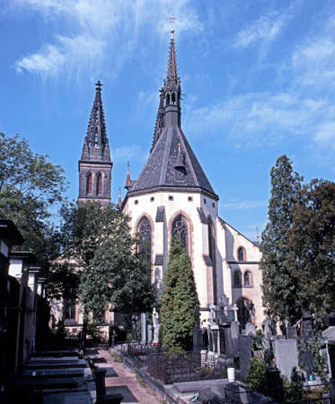 central europe: Church of St Peter and St Paul, Vyserhrad, Prague, Czech Republic, Central Europe.