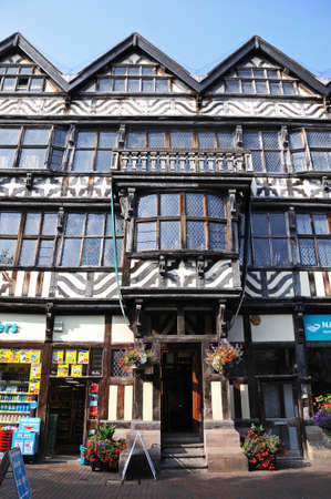 stafford: The Ancient High House along Greengate Street in the town centre, Stafford, Staffordshire, England, UK, Western Europe.