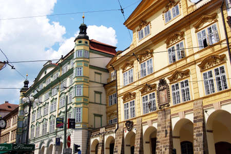 Examples of city centre buildings and architecture, Prague, Czech Republic, Eastern Europe.