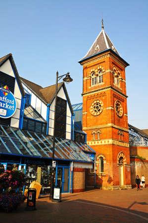 stafford: Vista di Stafford Mercato, Stafford, Staffordshire, Inghilterra, Regno Unito, Europa occidentale.