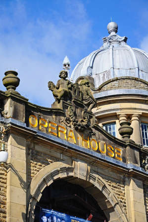 edwardian: Front view of the Opera House, Buxton, Derbyshire, England, UK, Western Europe. Editorial