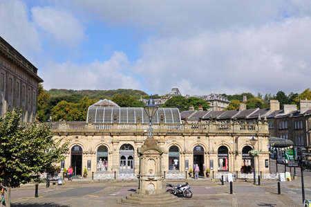 derbyshire: View of the Thermal Baths now Cavendish shopping arcade, Buxton, Derbyshire, England, UK, Western Europe.