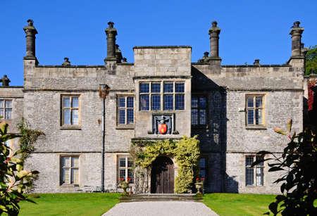 jacobean: Front view of Tissington Hall, Tissington, Derbyshire, England, UK, Western Europe. Editorial