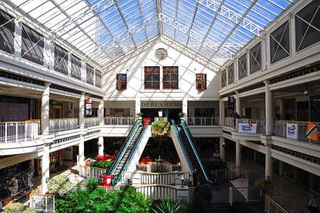 retailing: Shops inside the Beechwood shopping centre, Cheltenham, Gloucestershire, England, UK, Western Europe.