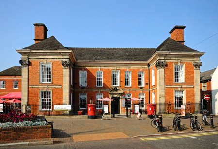 oficina antigua: Antigua oficina de correos Chetwynd Casa y hogar del dramaturgo Richard Brinsley Sheridan MP, Stafford, Staffordshire, Inglaterra, Reino Unido, Europa occidental.