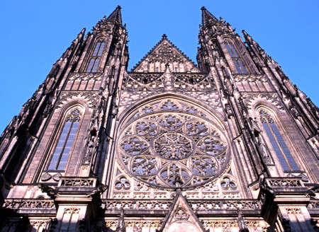 central europe: The Metropolitan Cathedral of Saints Vitus, Wenceslaus and Adalbert, Prague, Czech Republic, Central Europe.