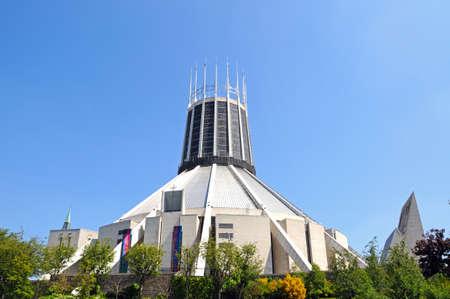merseyside: Cattedrale cattolica romana, Liverpool, Merseyside, Inghilterra, Regno Unito, Europa occidentale. Archivio Fotografico