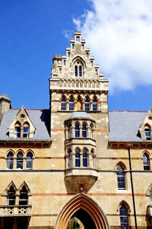 christ church: Front facade of the Meadow building which is part of Christ Church College, Oxford, Oxfordshire, England, UK, Western Europe.