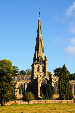 oswald: Parish Church of Saint Oswald, Ashbourne, Derbyshire, England, UK, Western Europe.