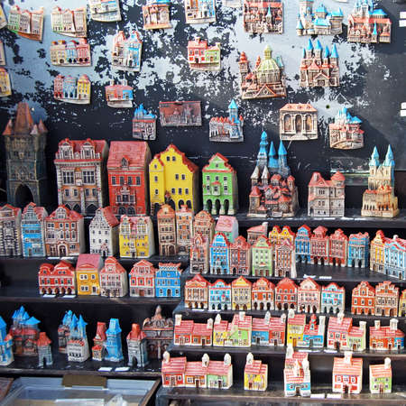 Souvenir models of Prague buildings, Prague, Czech Republic, Eastern Europe.