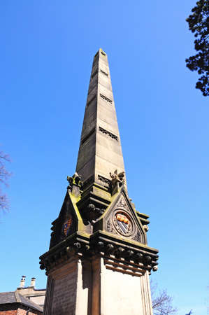 clement: Top of the monument to William James Clement, Shrewsbury, Shropshire, England, UK, Western Europe.