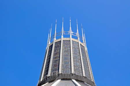 paddys: Roman Catholic Cathedral tower, Liverpool, Merseyside, England, UK, Western Europe. Stock Photo