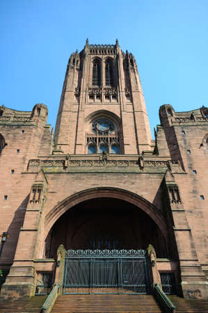 western europe: Liverpool Anglican Cathedral, Liverpool, Merseyside, England, UK, Western Europe.