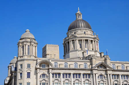 mersey: Port of Liverpool Building formerly known as the Mersey Docks and Harbour Board Office at Pier Head, Liverpool, Merseyside, England, UK, Western Europe. Stock Photo