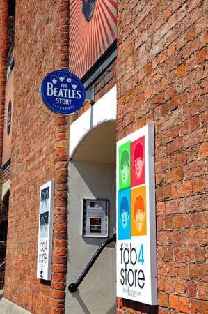 merseyside: L'edificio Beatles Story all'Albert Dock, Liverpool, Merseyside, Inghilterra, Regno Unito, Europa occidentale. Editoriali