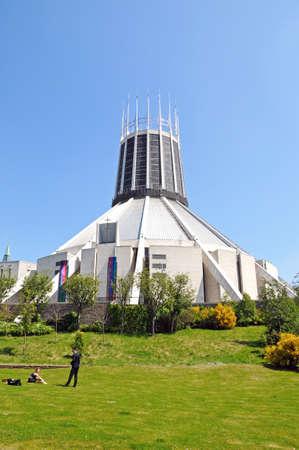 merseyside: Cattedrale cattolica romana, Liverpool, Merseyside, Inghilterra, Regno Unito, Europa occidentale. Editoriali