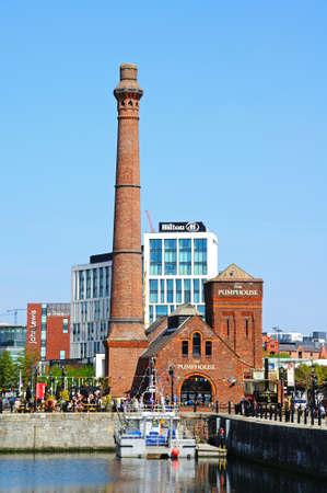 merseyside: View of the Victorian Pumphouse at Albert Dock, Liverpool, Merseyside, England, UK, Western Europe.