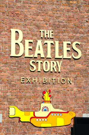 the beatles: The Beatles Story exhibition building and yellow submarine at Albert Dock, Liverpool, Merseyside, England, UK, Western Europe.