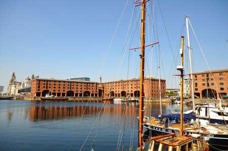 merseyside: Yachts moored in Albert Dock, Liverpool, Merseyside, England, UK, Western Europe.