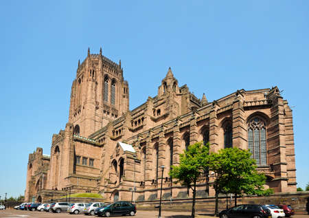 anglican: Liverpool Anglican Cathedral, Liverpool, Merseyside, England, UK, Western Europe.
