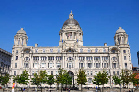edwardian: Port of Liverpool Building formerly known as the Mersey Docks and Harbour Board Office at Pier Head, Liverpool, Merseyside, England, UK, Western Europe. Editorial