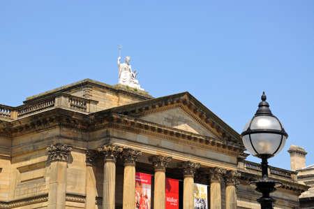 britannia: Walker Art Gallery and Britannia statue, Liverpool, Merseyside, England, UK, Western Europe.