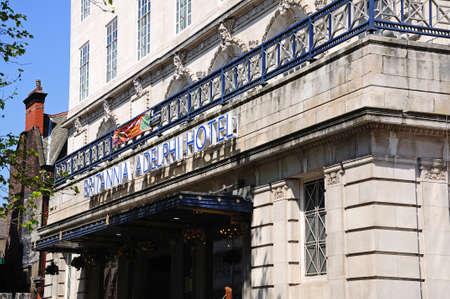 britannia: Front view of the Britannia Adelphi Hotel, Liverpool, Merseyside, England, UK, Western Europe.