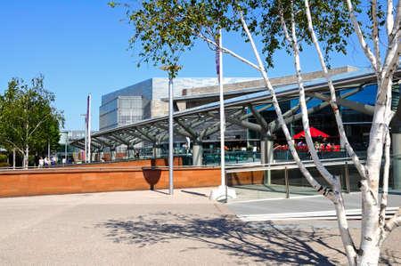 shopping centre: Chavasse Park shopping centre entrance, Liverpool, Merseyside, England, UK, Western Europe.