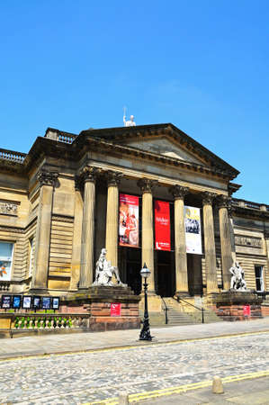 neoclassic: Walker Art Gallery along William Brown Street, Liverpool, Merseyside, England, UK, Western Europe.