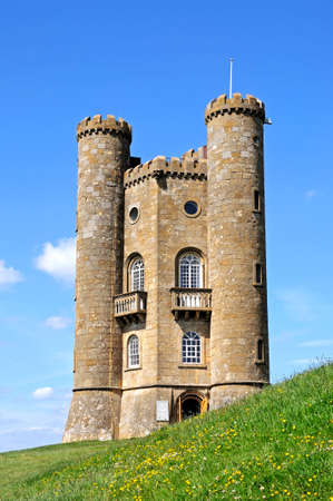 worcestershire: Broadway tower on Broadway Hill, near Broadway, Worcestershire, England, UK, Western Europe. Editorial