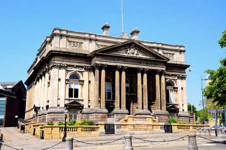 neoclassic: County Sessions Court House along William Brown Street, Liverpool, Merseyside, England, UK, Western Europe.