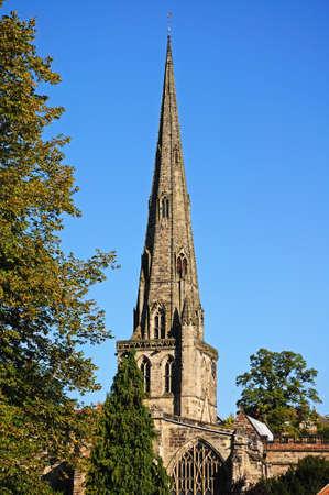 derbyshire: Parish Church of Saint Oswald, Ashbourne, Derbyshire, England, UK, Western Europe.