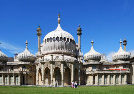 west sussex: View of the Royal Pavilion, Brighton, West Sussex, England, UK, Western Europe.