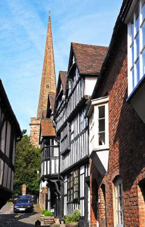 parish: Ledbury Parish Church St Michael and All Angels, Church Lane, Herefordshire, England, UK, Western Europe. Editorial